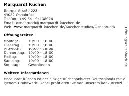 ᐅ öffnungszeiten marquardt küchen iburger straße 223 in