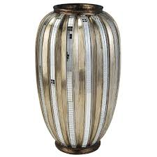 Ore International Floor Lamp Silver by Ore International 13 In H Silver Decorative Vase And Gold