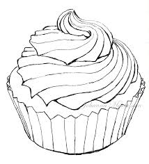 Cupcake Lineart by Skrattanfall