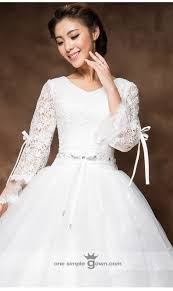 white ball gown wedding dresses with sleeves dress ball gown long