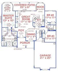 One Level House Floor Plans Colors Great Florida Single Level House Plan 150 1002