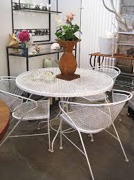 Salterini Iron Patio Furniture by Gorgeous Vintage Wrought Iron Outdoor Furniture A Salterini 7 Pc