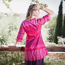 pink block print cotton tunic by charlotte u0027s web jewellery