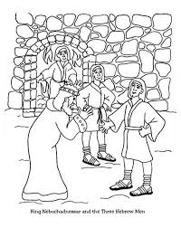 King Nebuchadnezzar And The Three Hebrew Man Colouring Page