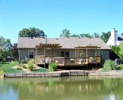 lafayette in waterfront 3 bedroom ranch home for sale with deck