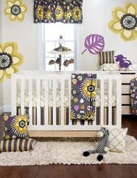 yellow and grey nursery bedding