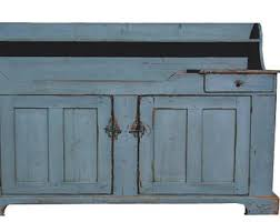 Primitive Rustic Farmhouse Furniture Cabinet Painted Country Dry Sink Reproduction Distressed Colonial Kitchen Cupboard