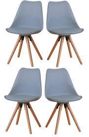 paket 4er set esszimmerstuhl nelle küchenstuhl esszimmer küche stuhl stühle eiche grau dynamic 24 de
