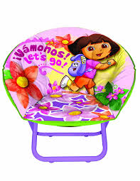 amazon com nickelodeon dora the explorer toddler saucer chair