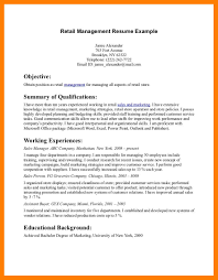 Resume For Retail Job JobBunch Ideas Of Sample Position With Additional Format Layout