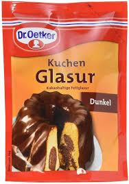 dr oetker cake glaze kuchen glasur dunkel total weight 125 grams