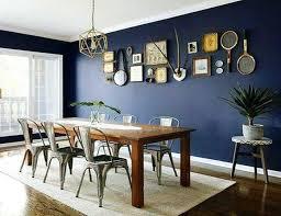 Navy Blue Dining Room Dark Decor On