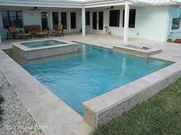 ivory tumbled travertine pool deck tiles pavers and pool coping