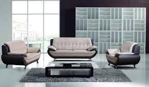 Gray Contemporary Modern Leather Sofa Set – Plushemisphere