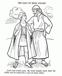 Free Coloring Page Joseph Coat Of Many Colors And
