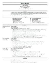 Restaurant Floor Manager Job Responsibilities Resturant Resume
