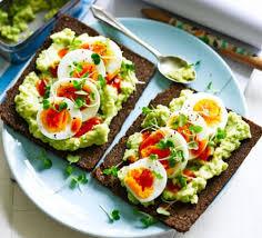 Egg Avocado Open Sandwich