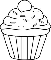 Cupcake Clipart Black And White Clipart Panda Free Clipart