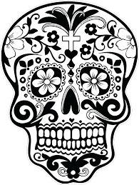 Sugar Skull Coloring Pages Pdf Free Download For Adults Dazzling Day Dead Picture Full Size