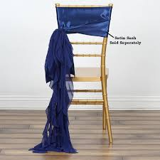 Navy Blue CHIFFON Curly CHAIR SASH Wedding Party Decorations ... Free Shipping 50pcs Lot Wedding Decoration Chair Cover Sashes Secohand Chairs And Tables Covers Whosale Indoor Simple Paper For Rent Spandex Navy Blue At Bridal 10 Pack Satin Gold Your Inc 2019 Two Sample Birthday Party Banquet And Pictures To Pin On Universal With Sash Discount Amazoncom Balsacircle Eggplant New Bows 15 X 275cm Fuchsia Black Polyester Bow Ties Cheap Stretch Folding White