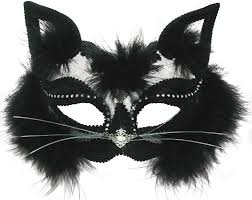 Funny Halloween Half Masks by Contessa Masquerade Mask Black Cat Cat U0027s Pajamas Halloween