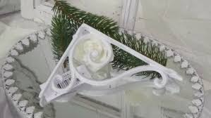 shelf support light hook corner wall bracket weiß12x17cm shabby chic vintage