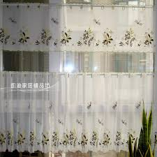 Fabric For Curtains Cheap by Aliexpress Com Buy Kitchen Curtain Embroidery Fabric Coffee
