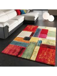 paco home teppich modern splash designer teppich bunt karo model neu ovp klingel