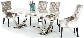 Marble Dining Room Sets Serge Living Table With 6 Chairs 3 Colours Top