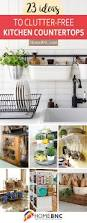 Kitchen Countertop Decorating Ideas Pinterest by Best 25 Kitchen Countertop Decor Ideas On Pinterest Countertop