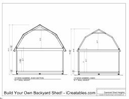 12x16 Gambrel Shed Kits by Shed Plans Heights Find Out How Tall Your Shed Will Be