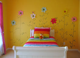 BedroomSun Flower Yellow Wall Bad Cover Window Awesome Colors For Girl Bedroom