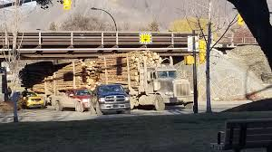 100 Truck Hits Overpass Logging Truck Hits Rail Overpass In Downtown Kamloops CFJC Today
