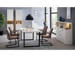 esszimmer mutina 22 weiß 4 teilig 2x vitrine highboard esstisch expendio