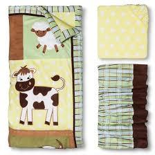 Trend Lab 3pc Crib Bedding Set – Baby Barnyard Tar