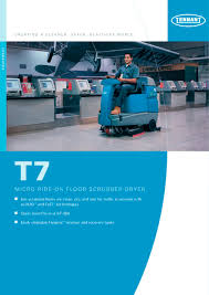 t7 battery ride on scrubber dryer tennant pdf catalogue