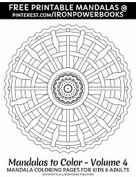 Easy Printable Mandala Coloring Pages For FREE