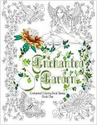 Enchanted Garden Coloring Book Books Volume 1