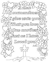Bible Coloring Pages Love Your Neighbor Lds One Another Kids Full Size