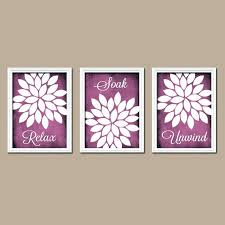 Purple Wall Decor Image Of Bathroom Picture Bedroom Stickers