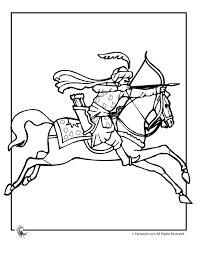 Aladdin And Arabian Horse Coloring Page