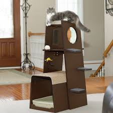 modern cat tower pet products modular modern cat tower 416819 sauder