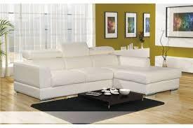 canapé d angle cuir blanc design pieds chromé achat vente