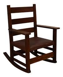gustav stickley child s rocking chair chairish