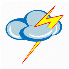 Cloud Cloudy Forecast Lightning Storm Thunder Weather Icon