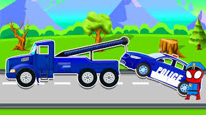 Police Cars For Children Tow Truck Repair - Police Car For Kids ... Kids Truck Video Fire Engine 2 My Foxies 3 Pinterest Red Monster Trucks For Children For With Spiderman Cars Cartoon And Fun Long Videos Garbage Youtube Best Of 2014 Gaming Cartoons Promo Carnage Crew Armed Men Kidnap Orphans Alberton Record Bulldozer Parts Challenge Themes Impact Hammer