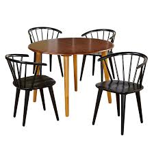 Target Marketing Systems 5 Piece Florence Dining Set With 4 Chairs And A  Round Table, Oak/Black Fniture Of America Lyda Transitional Black Acacia Round Pedestal Ding Table Oak Kitchen And Chairs Alluring Solid White Painted Large Extendable Rooms Wood Mark Harris Promo Rectangular With 2 Fduk Best Price Guarantee We Will Beat Our Competitors Give Our Sales Team A Kelly Hoppen By Resource Decor Ned With Led Base Glass And Chair Set 4 Seats Suki 24 Seat Black Folding Round Ding Table Small Vermont Oakland Matt 100cm Tables To Fit Your Room Living Spaces Glamorous Storage Saving Functional Surprising