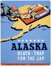 ALASKA DEATH TRAP JAP World War Propaganda Retro Decorative Posters Vintage Kraft Poster Wall Sticker