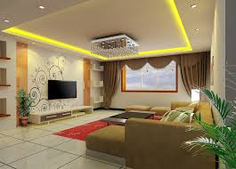 Wallpapers For Room Walls Inspiring Ideas 15 Living TV Wall Wallpaper And Curtain Design