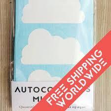 stikers chambre nuages blanc autocollants muraux stickers chambre bébé motif